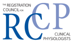 Registration Council for Clinical Physiologists logo